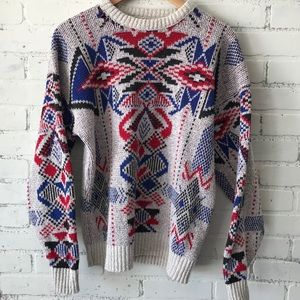 Vintage Distressed Sweater 90s XL Made in USA